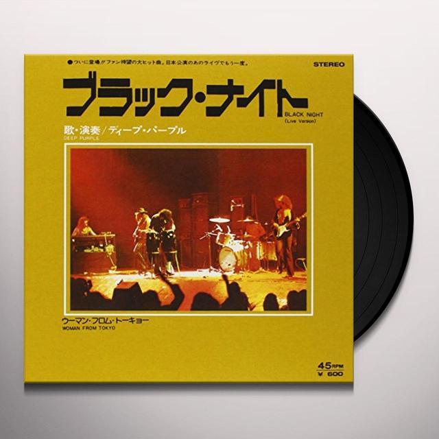 Deep Purple BLACK NIGHT/WOMAN FROM TOKYO Vinyl Record - Italy Import