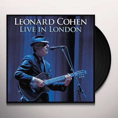 Leonard Cohen LIVE IN LONDON Vinyl Record