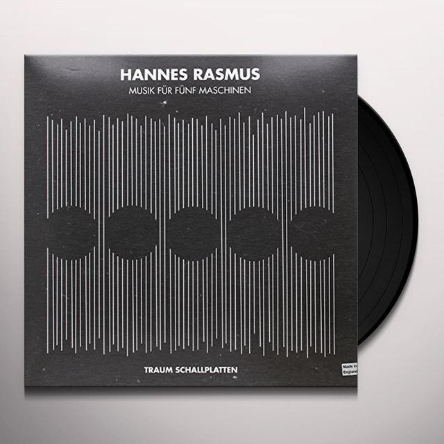Hannes Rasmus MUSIC FUR FUNF MASCHINEN Vinyl Record