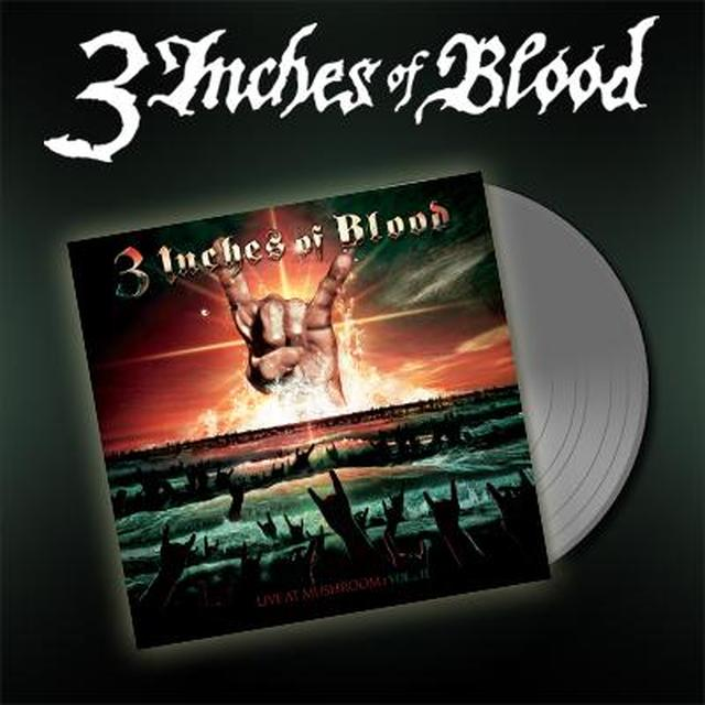 3 Inches Of Blood LIVE AT MUSHROOM 2 Vinyl Record