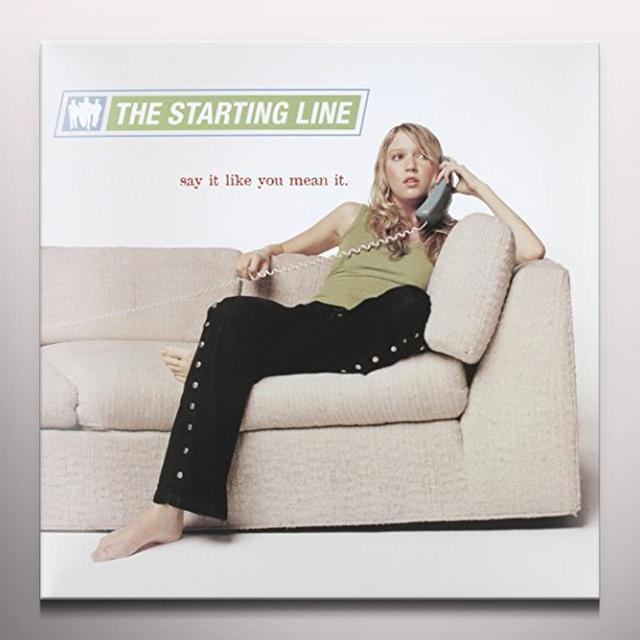 The Starting Line SAY IT LIKE YOU MEAN IT Vinyl Record - Blue Vinyl, Gatefold Sleeve, Limited Edition, 180 Gram Pressing
