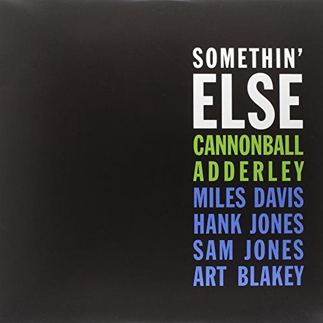 Cannonball Adderley SOMETHIN ELSE (LTD) (Vinyl)