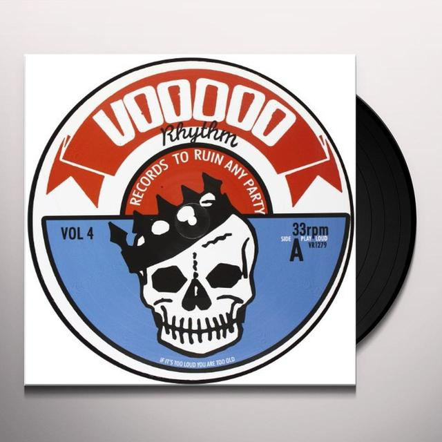 Voodoo Rhythm Compilation / Various VOODOO RHYTHM COMPILATION VOL 4 / VARIOUS Vinyl Record