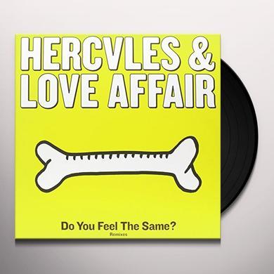 Hercules & Love Affair DO YOU FEEL THE SAME? Vinyl Record - UK Import