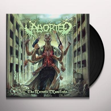 Aborted NECROTIC MANIFESTO Vinyl Record - UK Import