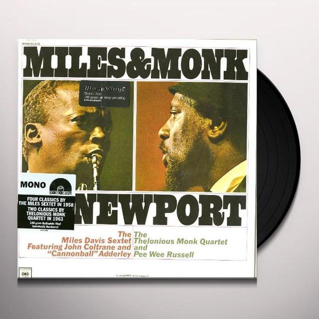 Miles Davis MILES & MONK AT NEWPORT Vinyl Record - Holland Import