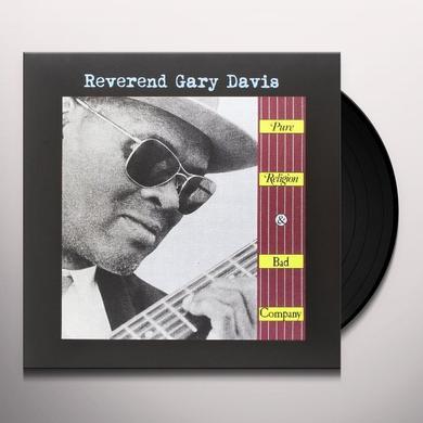 Reverend Gary Davis PURE RELIGION & BAD COMPANY Vinyl Record