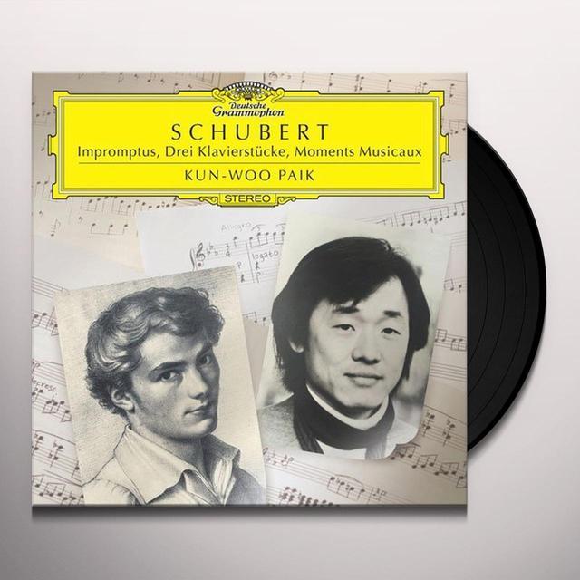 Schubert / Paik IMPROMPTUS DREI KLAVIERSTUCKE MOMENTS MUSICAUX Vinyl Record