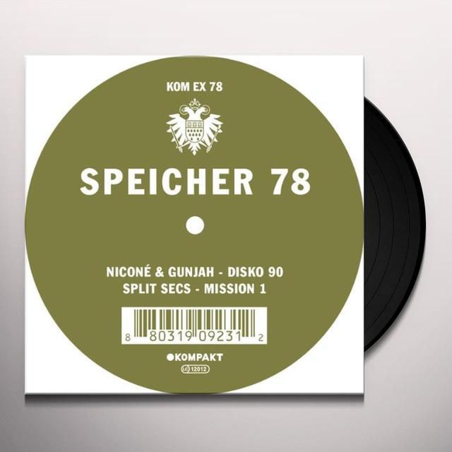 Nicone & Gunjah SPEICHER 78 Vinyl Record