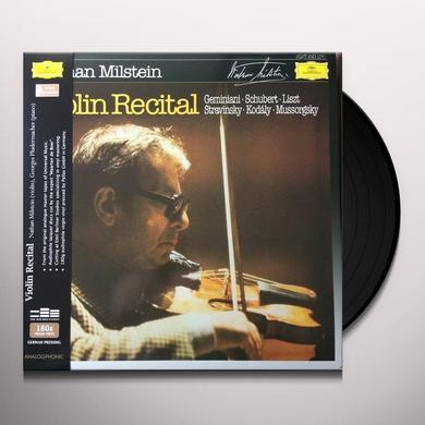 Nathan Milstein VIOLIN RECITAL Vinyl Record - 180 Gram Pressing