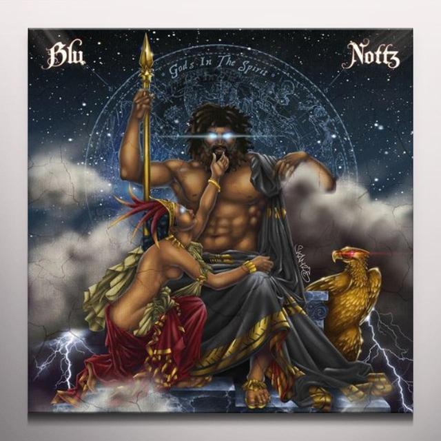 Blu & Nottz GODS IN THE SPIRIT  (EP) Vinyl Record - Blue Vinyl