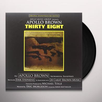 Apollo Brown THIRTY EIGHT  (WSV) Vinyl Record - 180 Gram Pressing