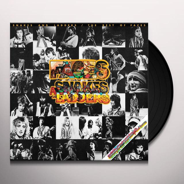 Rod Stewart/Faces SNAKES & LADDERS: THE BEST OF FACES Vinyl Record - Limited Edition, 180 Gram Pressing