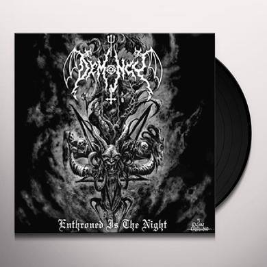 Demoncy ENTHRONED IS THE NIGHT Vinyl Record - UK Import