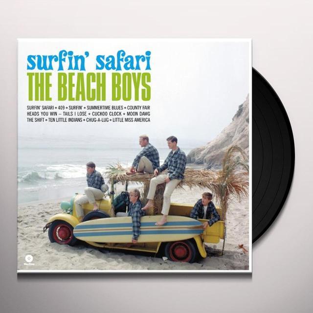 The Beach Boys SURFIN' SAFARI Vinyl Record - Spain Import