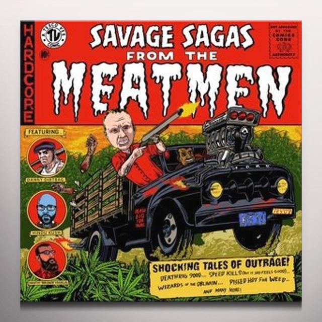 SAVAGE SAGAS FROM THE MEATMEN Vinyl Record - Orange Vinyl