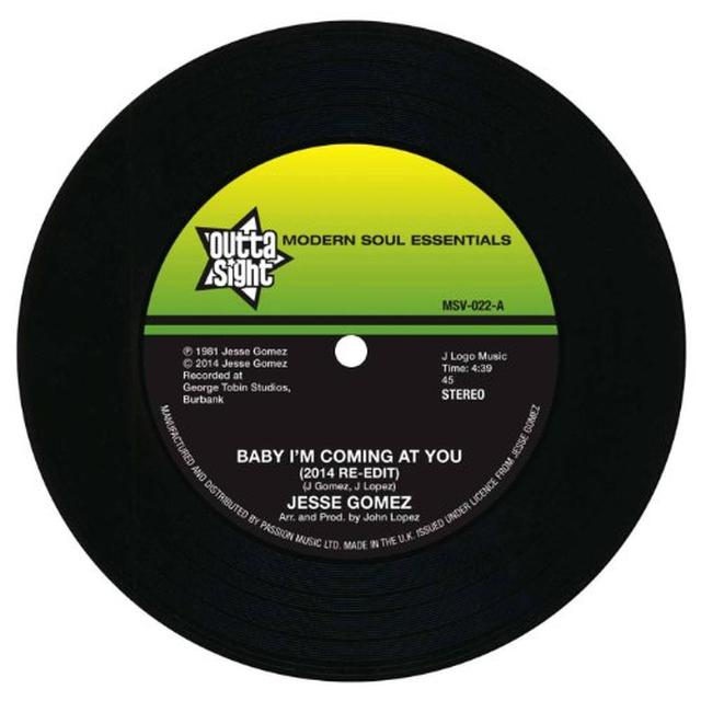 Jesse Gomez BABY I'M COMING AT YOU/IN THE CITY Vinyl Record