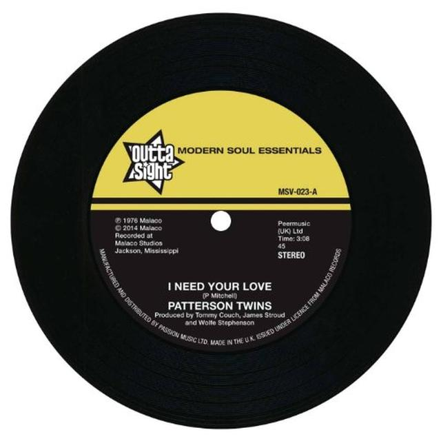 Richard Patterson Twins Caiton I NEED YOUR LOVE/I'M GONNA LOVE YOU Vinyl Record