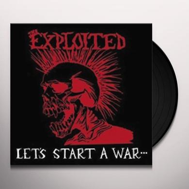The Exploited LETS START A WAR Vinyl Record - Limited Edition