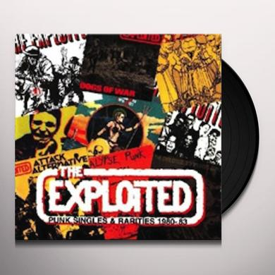 The Exploited PUNK SINGLES 1980-83 Vinyl Record - Limited Edition