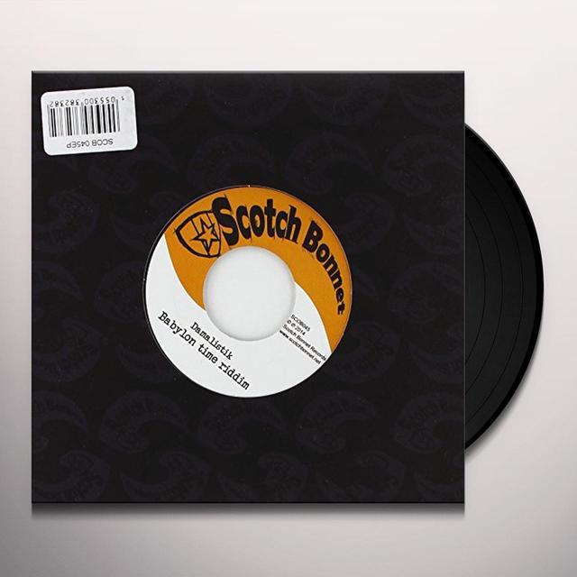 Damalistik BABYLON TIME RIDDIM 1 Vinyl Record