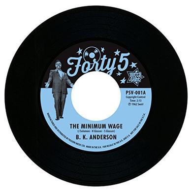 Louis Jordan B.K.Anderson MINIMUM WAGE/WORKIN' MAN Vinyl Record