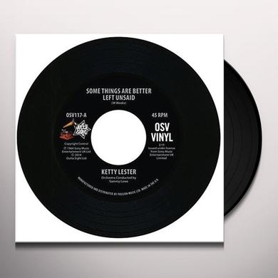Ketty Lester SOME THINGS ARE BETTER LEFT UNSAID Vinyl Record