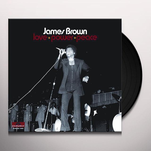 James Brown LOVE POWER PEACE Vinyl Record
