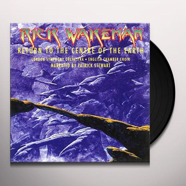 Rick Wakeman RETURN TO THE CENTRE OF THE EARTH Vinyl Record - Gatefold Sleeve