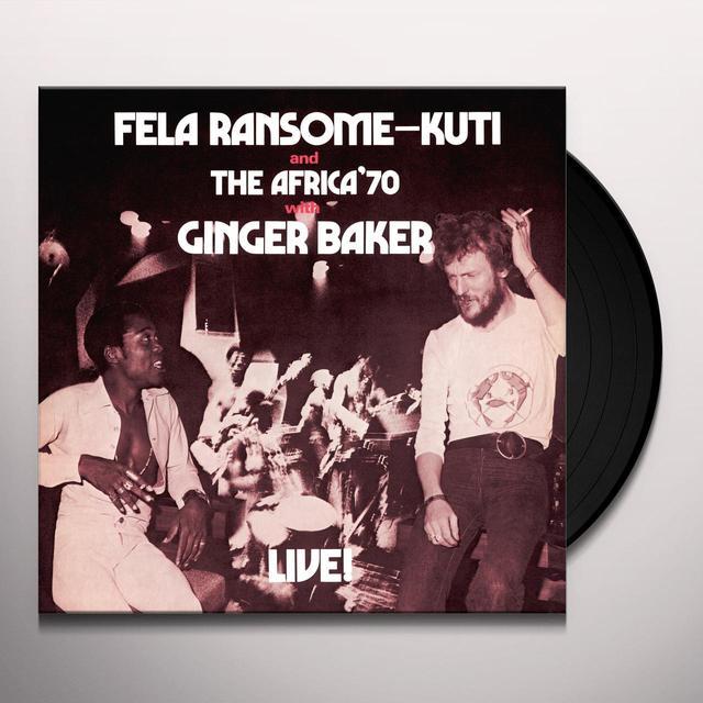 Fela Kuti FELA LIVE WITH GINGER BAKER Vinyl Record - Digital Download Included