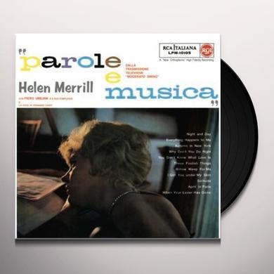 Hellen Merrill PAROLE E MUSICA Vinyl Record