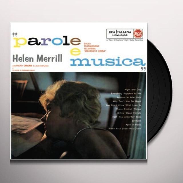 Hellen Merrill PAROLE E MUSICA Vinyl Record - w/CD