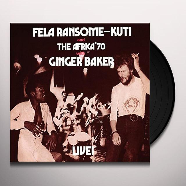 Fela Kuti FELA WITH GINGER BAKER LIVE! Vinyl Record - UK Release