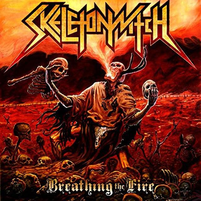 Skeletonwitch BREATHING THE FIRE Vinyl Record - Limited Edition, Picture Disc