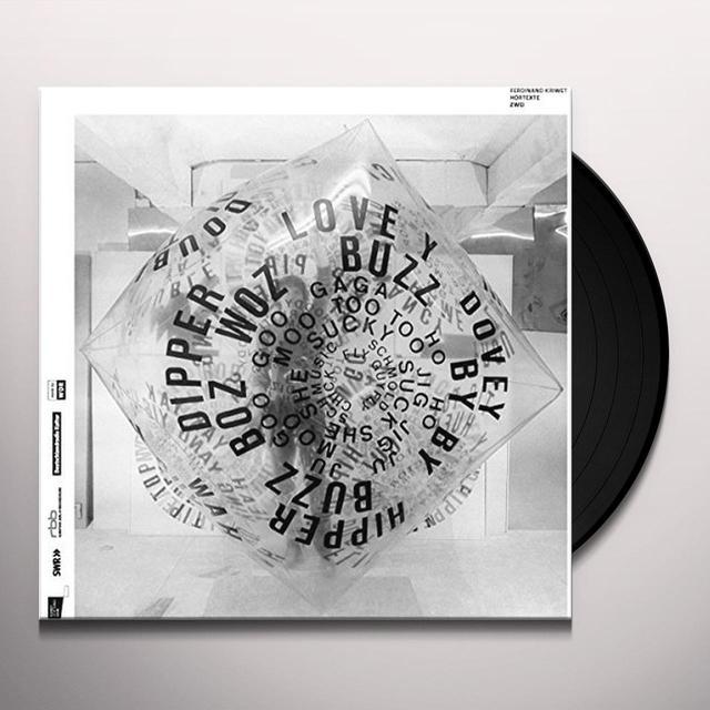 Ferdinand Kriwet HORTEXTE ZWEI Vinyl Record