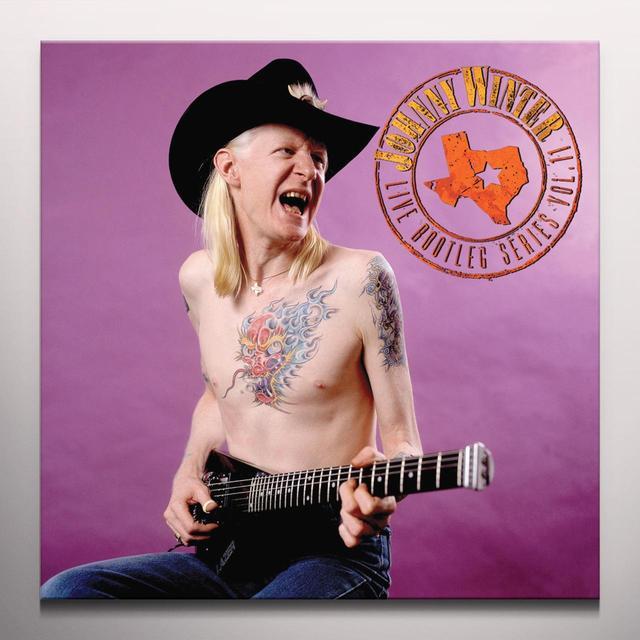 Johnny Winter LIVE BOOTLEG SERIES: 11 Vinyl Record - Clear Vinyl, Limited Edition, 180 Gram Pressing