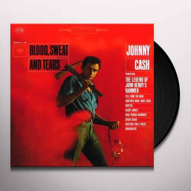 Johnny Cash BLOOD SWEAT & TEARS Vinyl Record - Holland Import