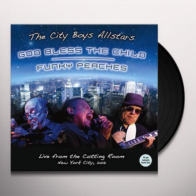 The City Boys Allstars GOD BLESS THE CHILD / FUNKY PEACHES Vinyl Record