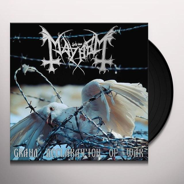 Mayhem GRAND DECLARATION OF WAR Vinyl Record - UK Release