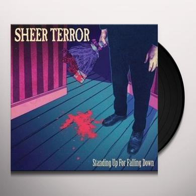 Sheer Terror STANDING UP FOR FALLING DOWN Vinyl Record - Gatefold Sleeve