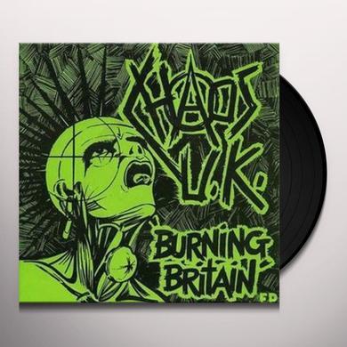 Chaos Uk BURNING BRITAIN Vinyl Record - Limited Edition
