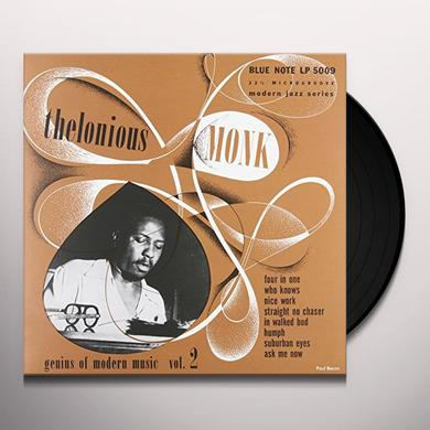Thelonious Monk GENIUS OF MODERN MUSIC 2 Vinyl Record