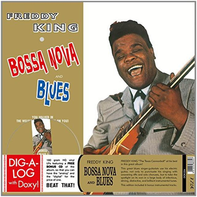 Freddie King BOSSA NOVA & BLUES Vinyl Record - w/CD