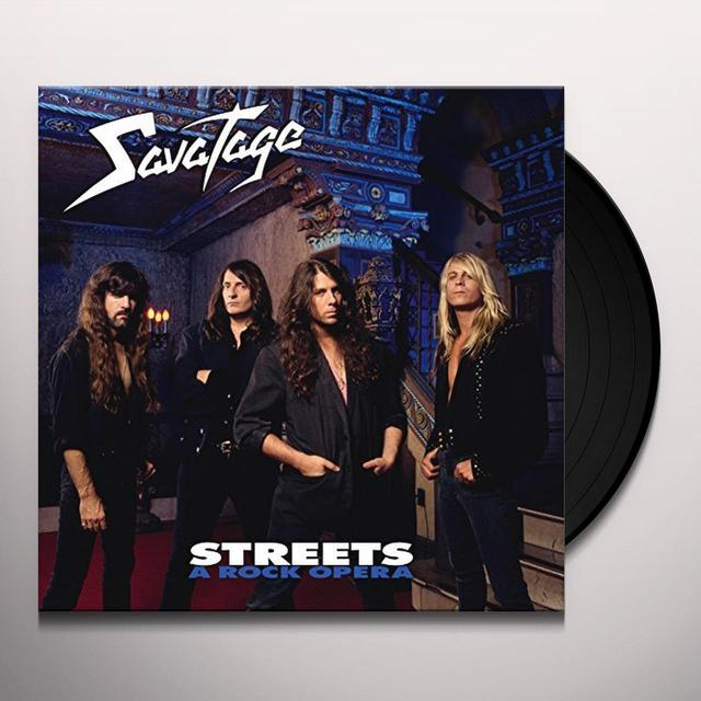 Savatage STREETS: A ROCK OPERA Vinyl Record - UK Release