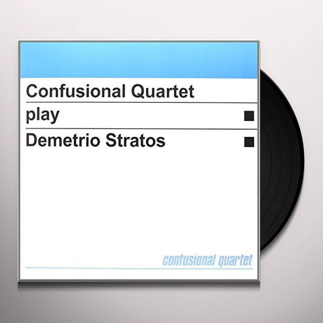 CONFUSIONAL QUARTET PLAY DEMETRIO STRATOS Vinyl Record - Italy Import