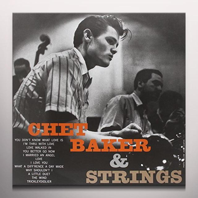 CHET BAKER & STRINGS Vinyl Record - Clear Vinyl, Limited Edition