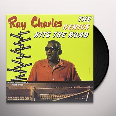 Ray Charles GENIUS HITS THE ROAD Vinyl Record - Limited Edition