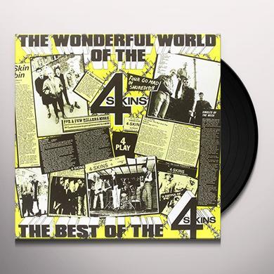 4 Skins WONDERFUL WORLD-THE BEST OF THE 4-SKINS Vinyl Record - UK Import