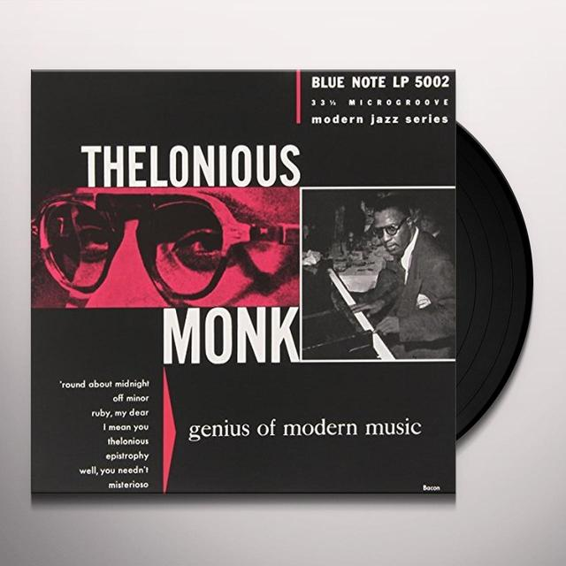 Thelonious Monk GENIUS OF MODERN MUSIC 1 Vinyl Record
