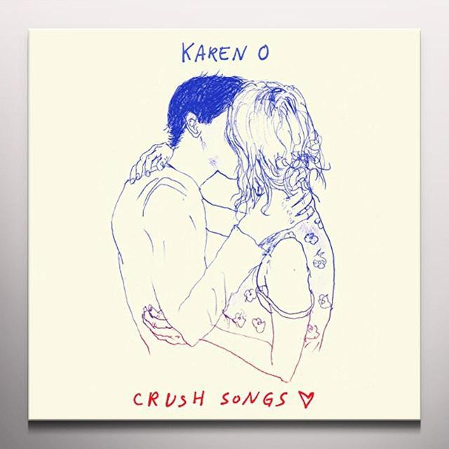 Karen O CRUSH SONGS   (WB) Vinyl Record - Blue Vinyl, Colored Vinyl, Digital Download Included